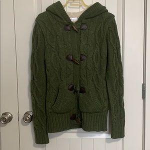 Women's. Sweater Jacket.  Toggle. Faux fur
